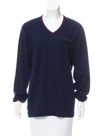 Rag & Bone V-Neck Wool Sweater None