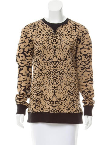 Rag & Bone Printed Long Sleeve Sweatshirt None
