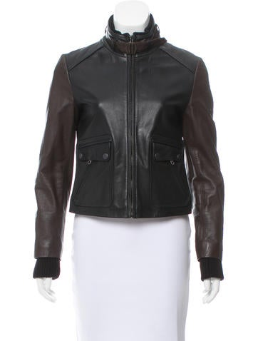 Rag & Bone Leather Zip-Up Jacket None