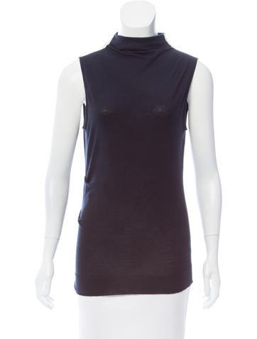Rag & Bone Silk-Paneled Wool Top None
