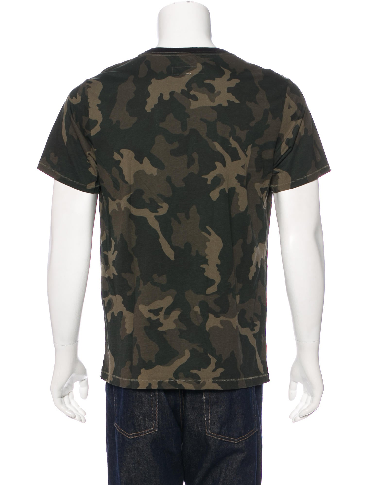 Rag bone camouflage print t shirt clothing for Camouflage t shirt printing