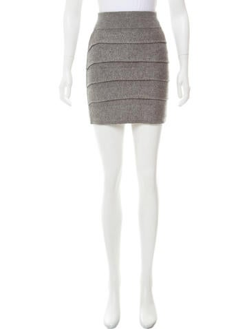 Rag & Bone Ruffled Wool Mini Skirt None