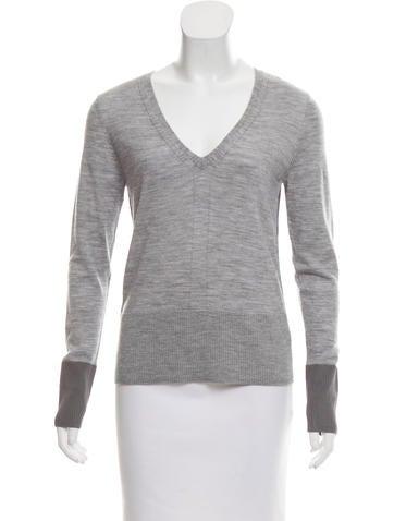 Rag & Bone Wool V-Neck Sweater None