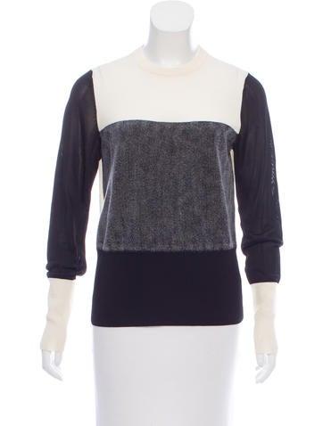 Rag & Bone Wool-Paneled Knit Top None