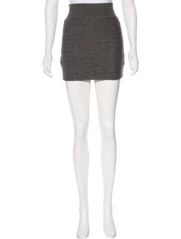 Rag & Bone Silk-Blend Mini Skirt None