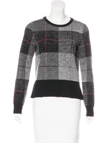 Rag & Bone Merino Wool Check Sweater None