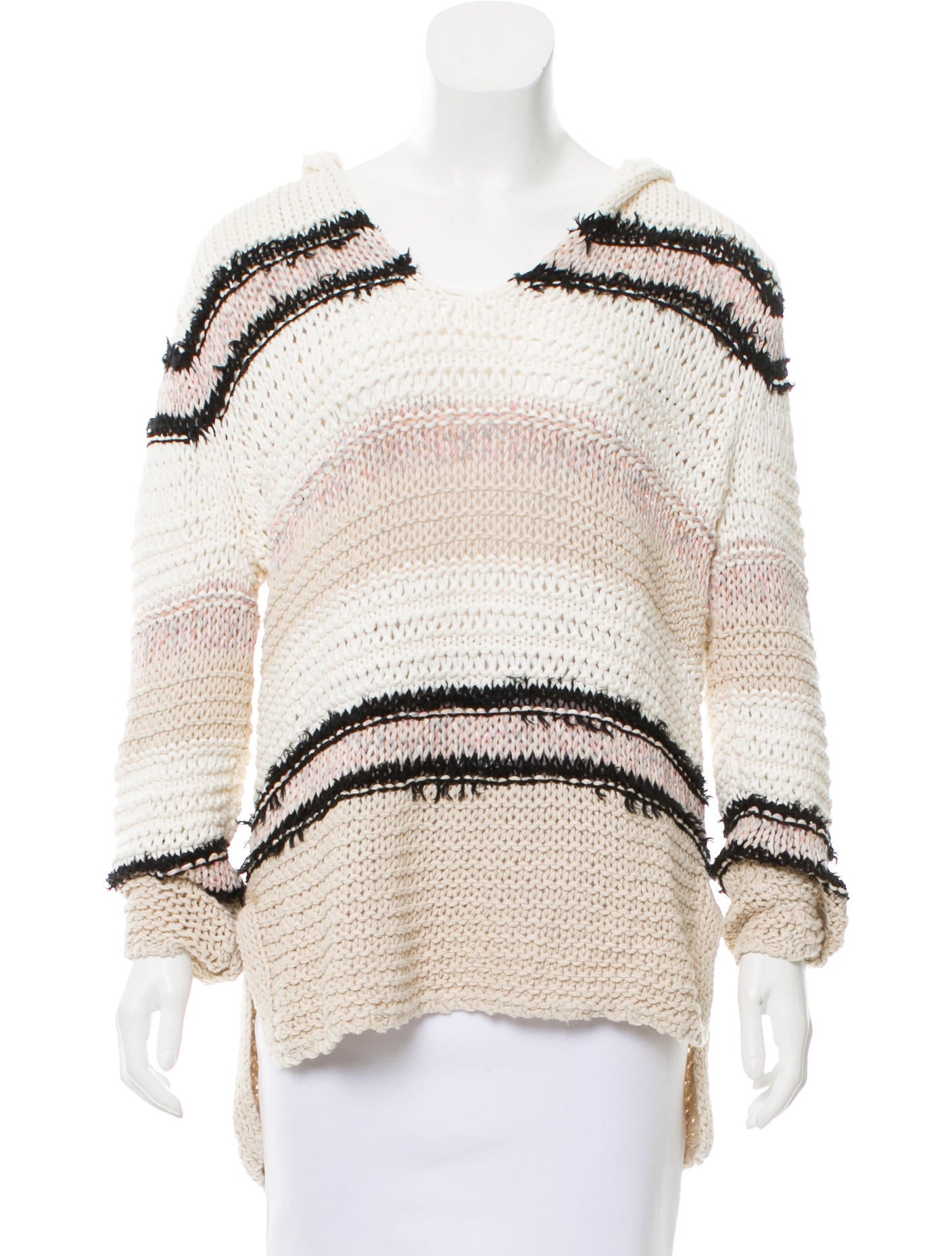Rag Bone Cable Knit Hooded Sweater Clothing Wragb94829 The