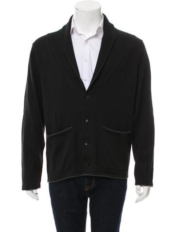 Rag & Bone Rib Knit Shawl-Lapel Cardigan None