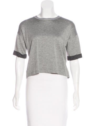 Rag & Bone Short Sleeve Crop Top None