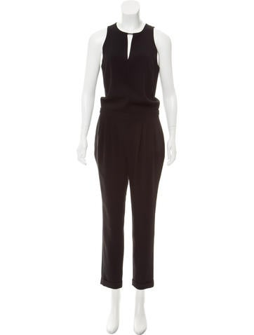0fffdeba62a Rag   Bone Sleeveless Straight-Leg Jumpsuit - Clothing - WRAGB95183 ...