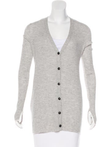 Rag & Bone Rib Knit Cashmere Cardigan None