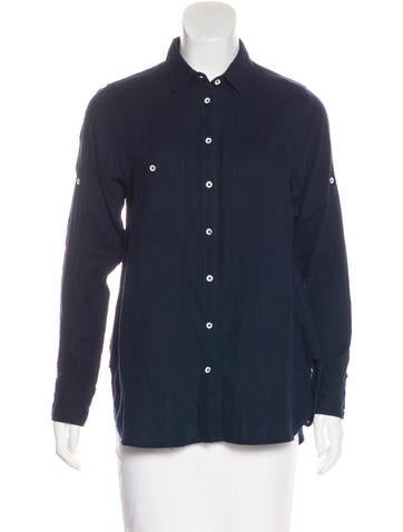 Rag & Bone Long Sleeve Button-Up Top None