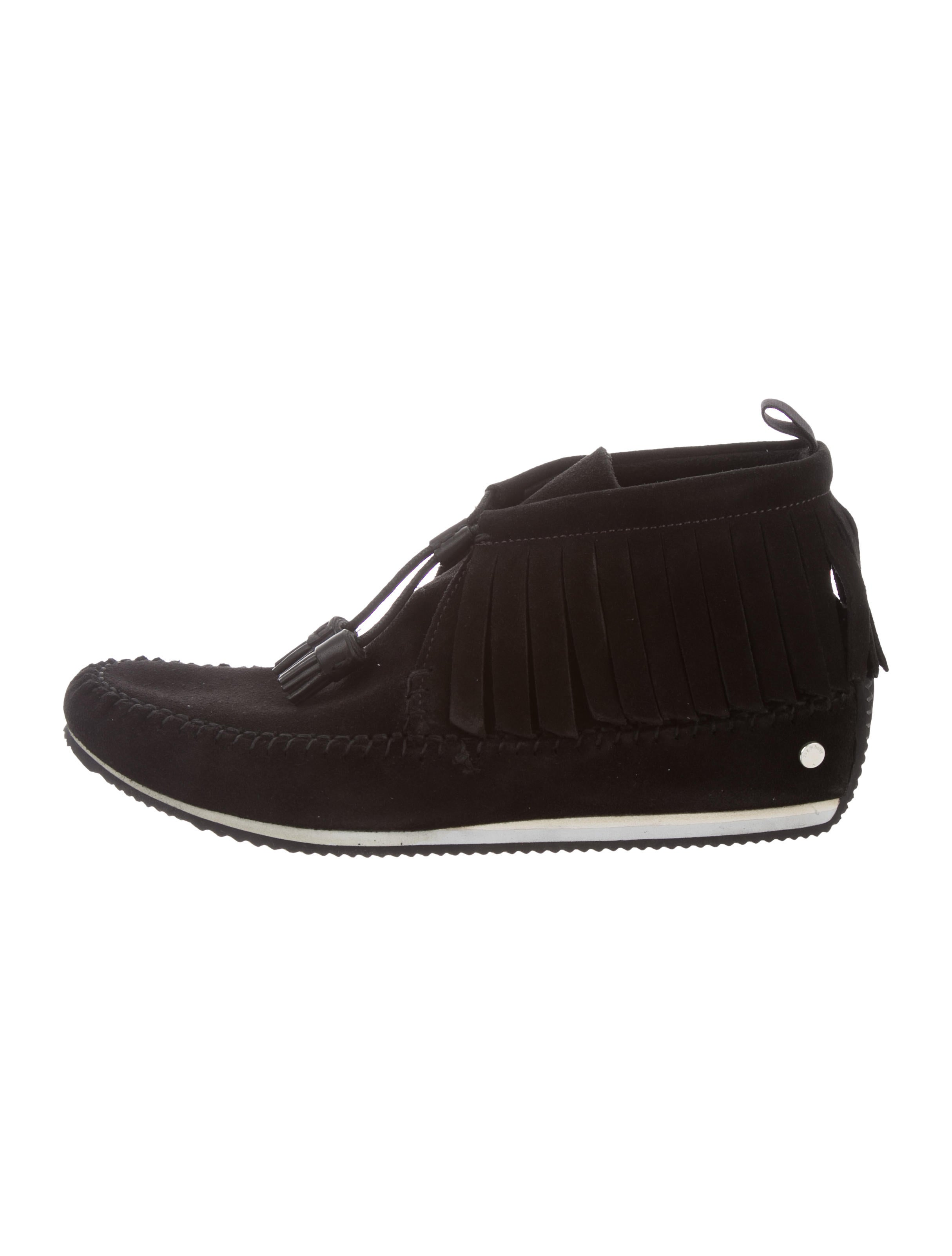 clearance shopping online outlet real Rag & Bone Ghita Fringe-Trimmed Moccasins w/ Tags free shipping fast delivery NHbq0z