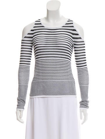 Rag & Bone Striped Cold Shoulder Top None