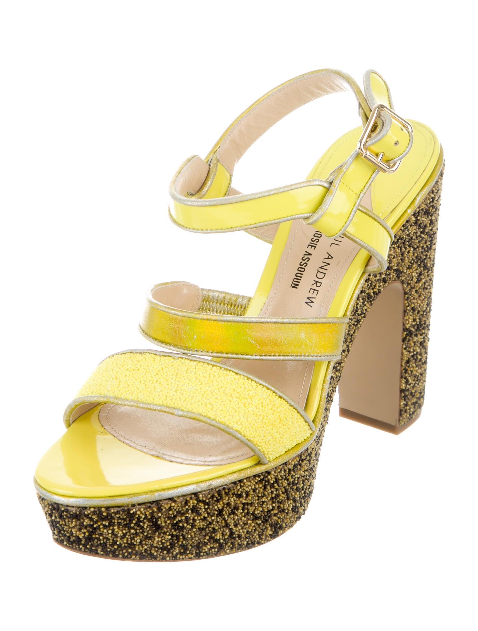 2014 unisex cheap online websites Rosie Assoulin x Paul Andrew Patent Platform Sandals choice online 0jQS62
