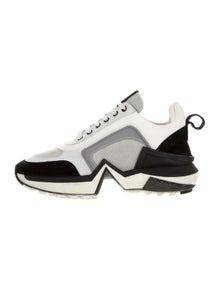 Ralph & Russo Suede Printed Chunky Sneakers