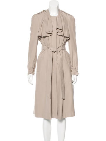 Rebecca Taylor Silk-Blend Trench Coat