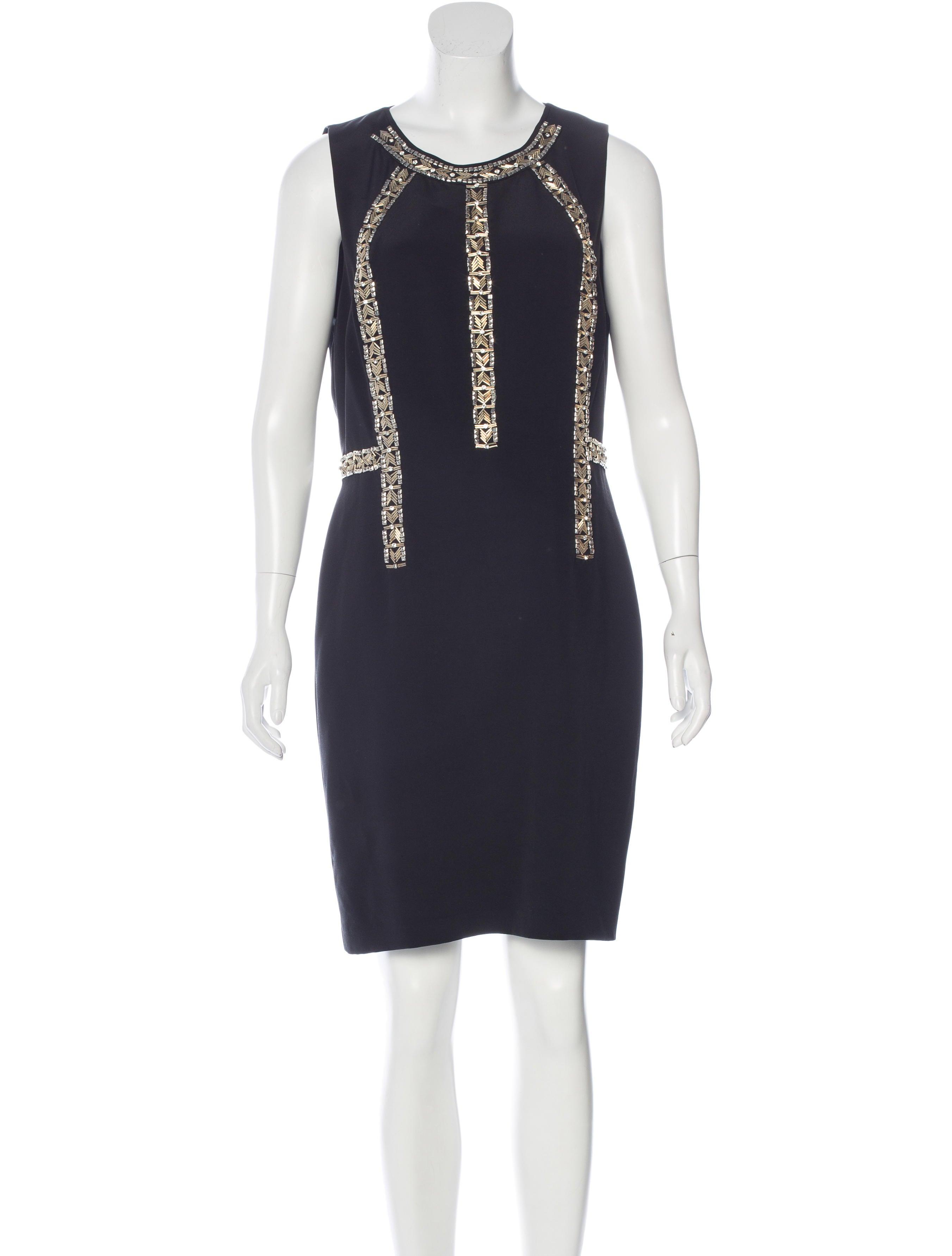 bead embellished silk dress w tags