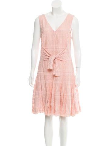 Rebecca Taylor Embroidered A-Line Dress None