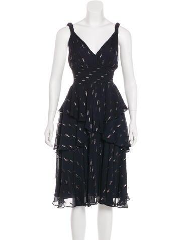 Silk-Blend Midi Dress w/ Tags