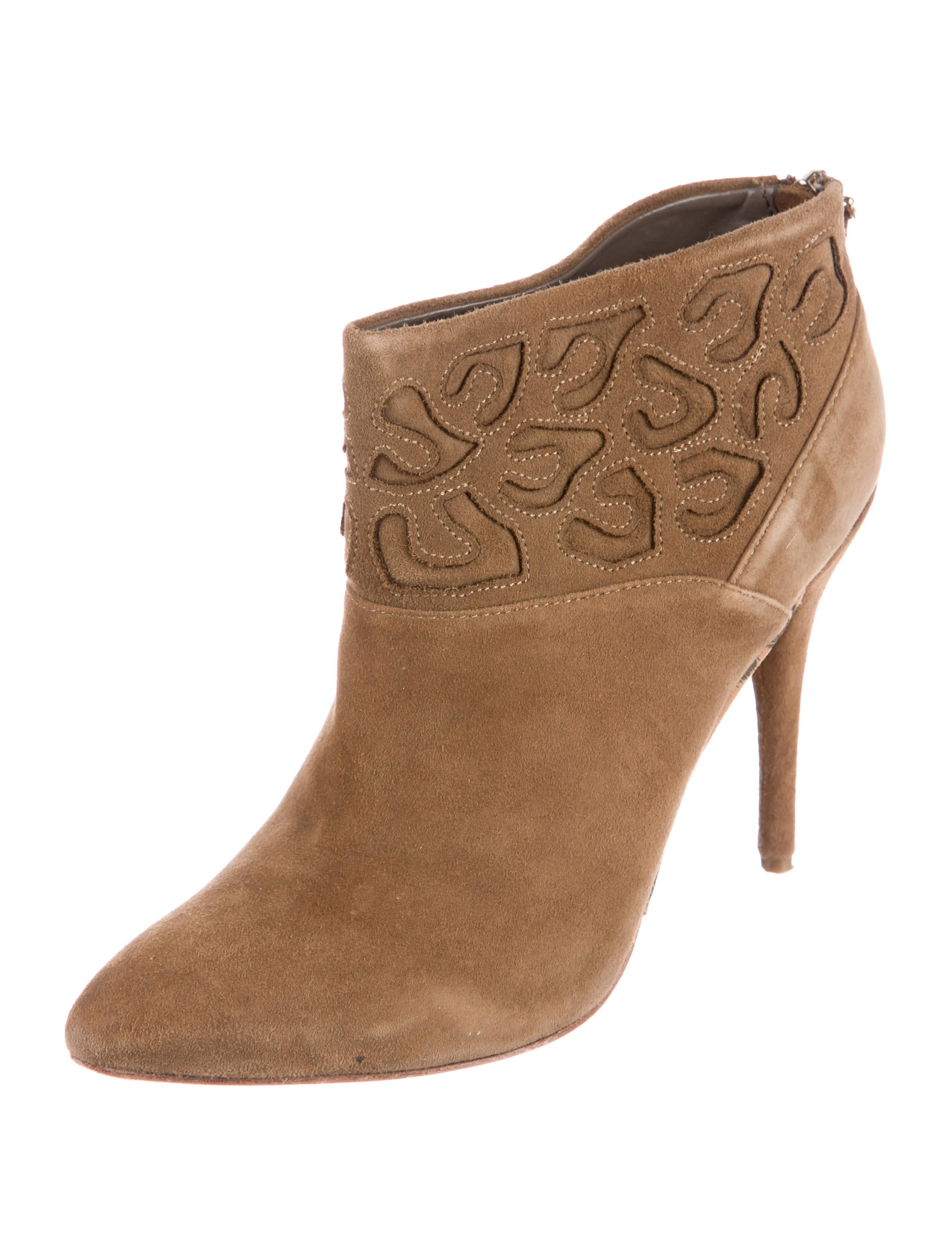 Rebecca Taylor Suede Round-Toe Booties very cheap online 2014 new online cheap in China huge surprise cheap price cheap websites 2EcF6