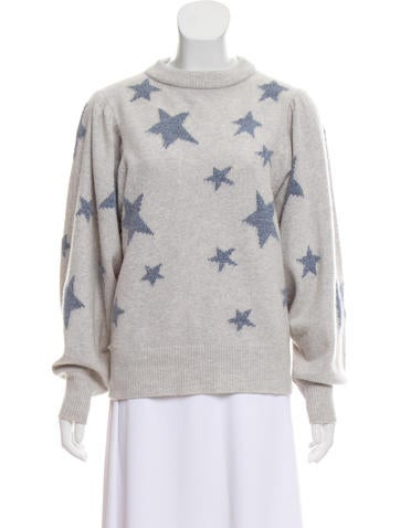 Intarsia Print Knit Sweater