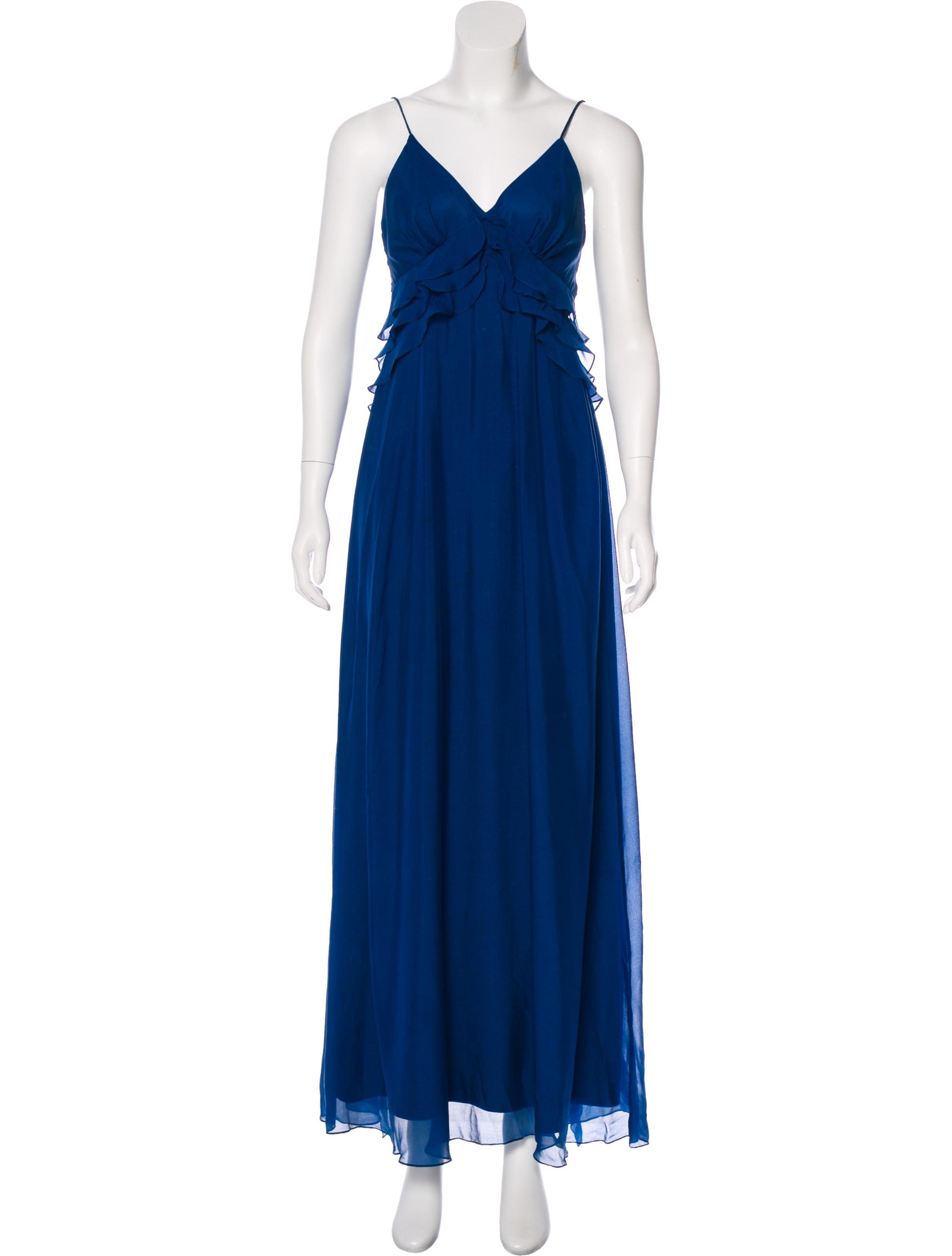 Rebecca Taylor Sleeveless Satin Maxi Dress - Clothing - WRB27614 ...