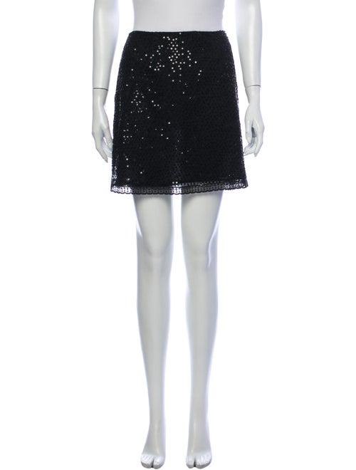 Rebecca Taylor Silk Mini Skirt Black
