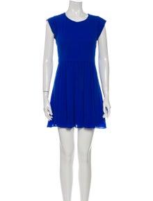 Rebecca Taylor Crew Neck Mini Dress