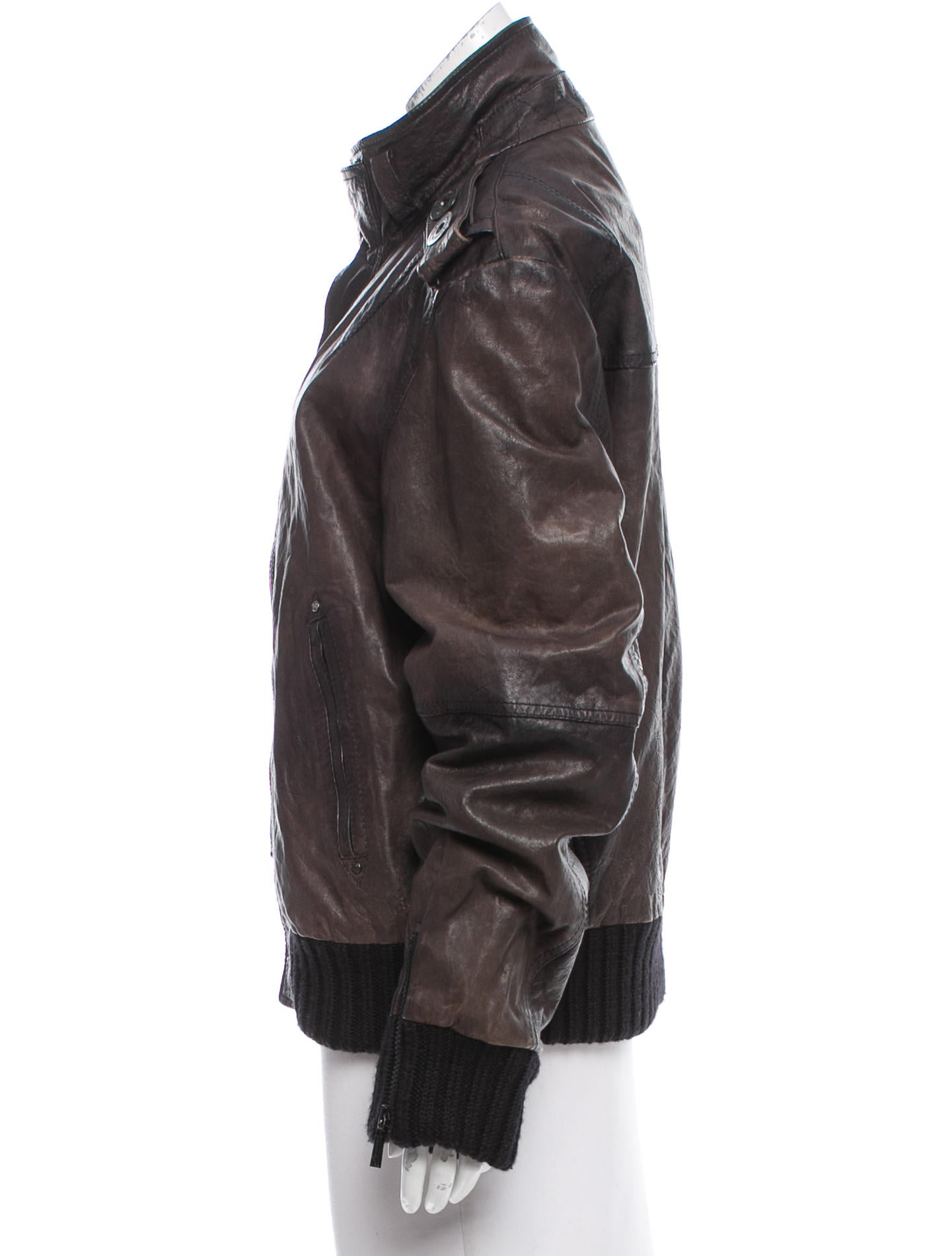 Richmond X Leather Button-Up Jacket - Clothing ...