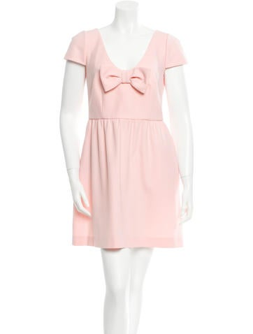 Short Sleeve Bow Dress