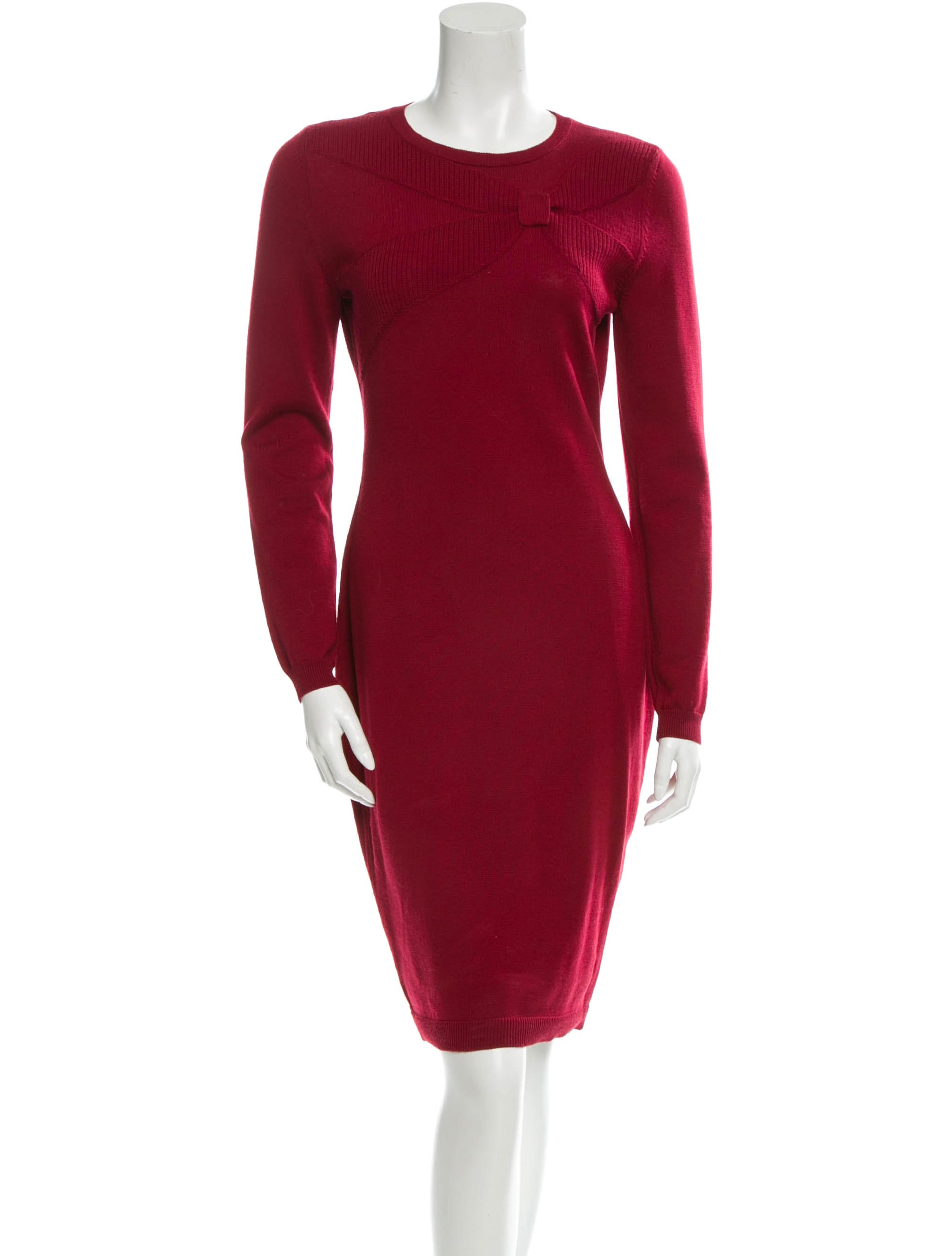 Red Valentino Wool Sweater Dress - Clothing - WRE23529 | The RealReal