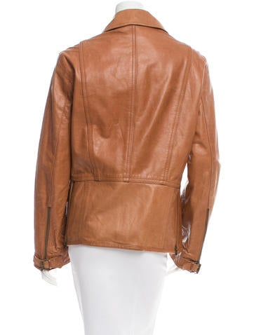 Leather Zip-Up Jacket