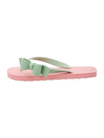 Bow Embellished Thong Sandals