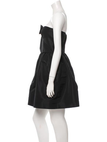 Strapless Bow-Accented Dress