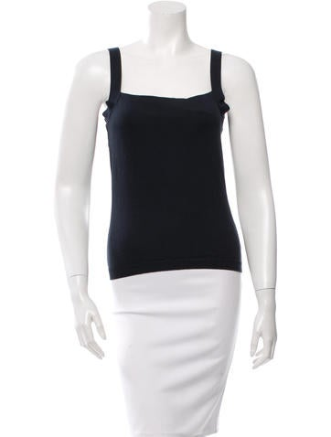 Red Valentino Square Neck Sleeveless Top None