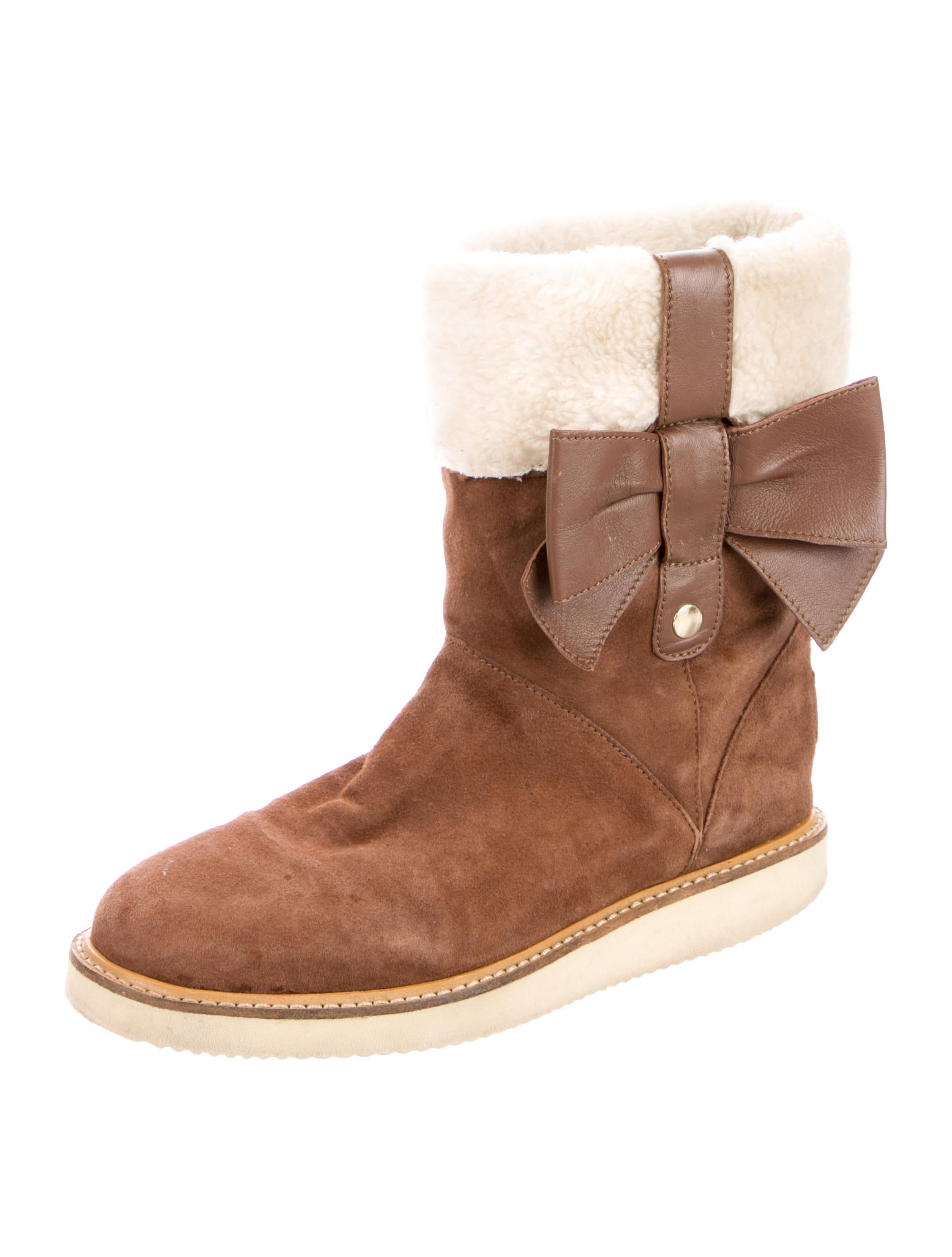 valentino shearling ankle boots shoes wre25761