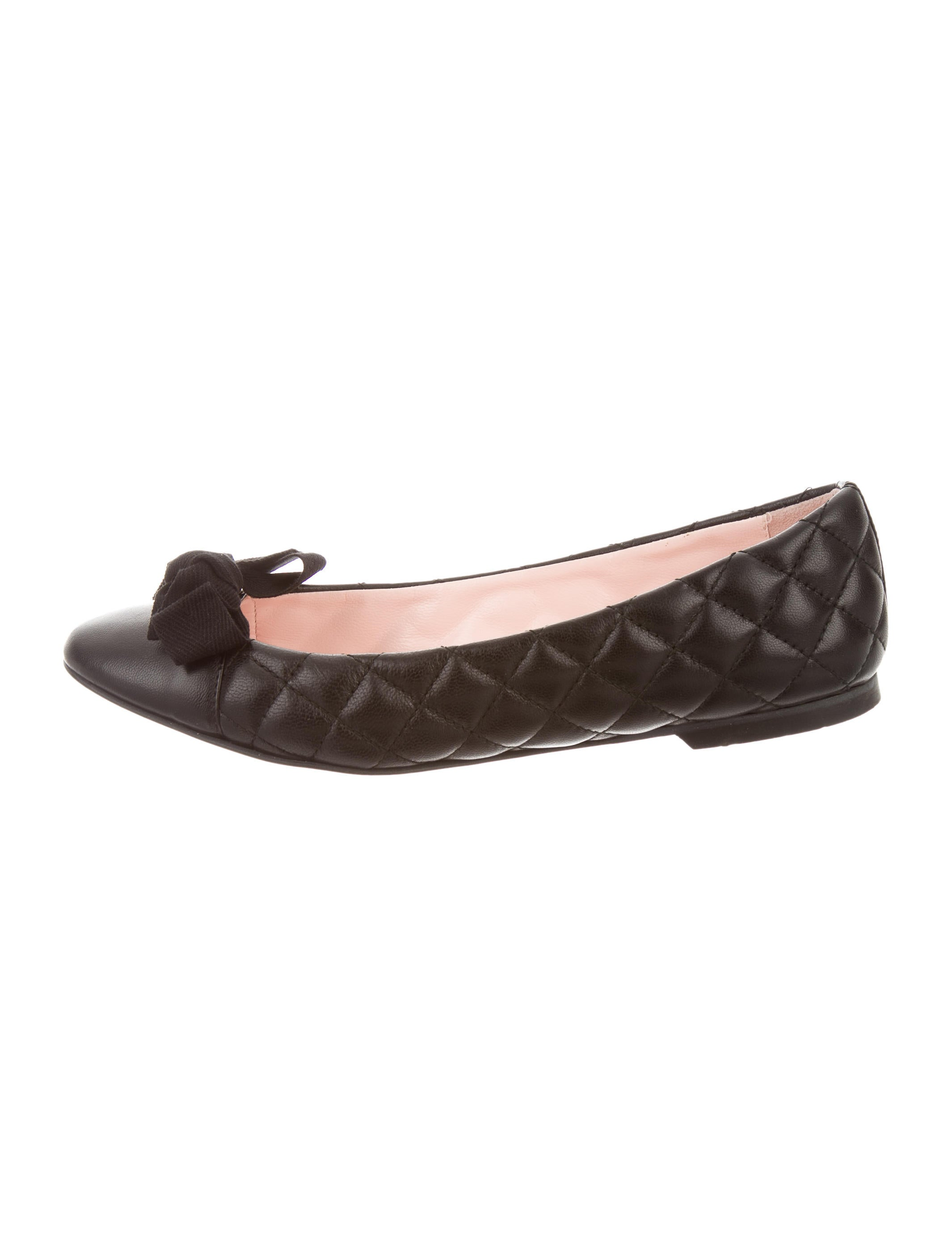 Red Valentino Leather Bow Flats - Shoes - WRE26119 | The ...