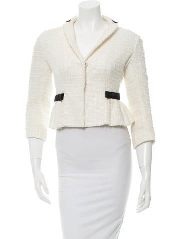 Red Valentino Long Sleeve Bouclé Jacket None