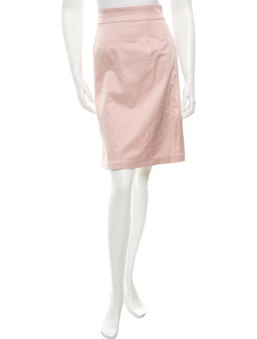 Red Valentino Satin Knee Length Skirt None