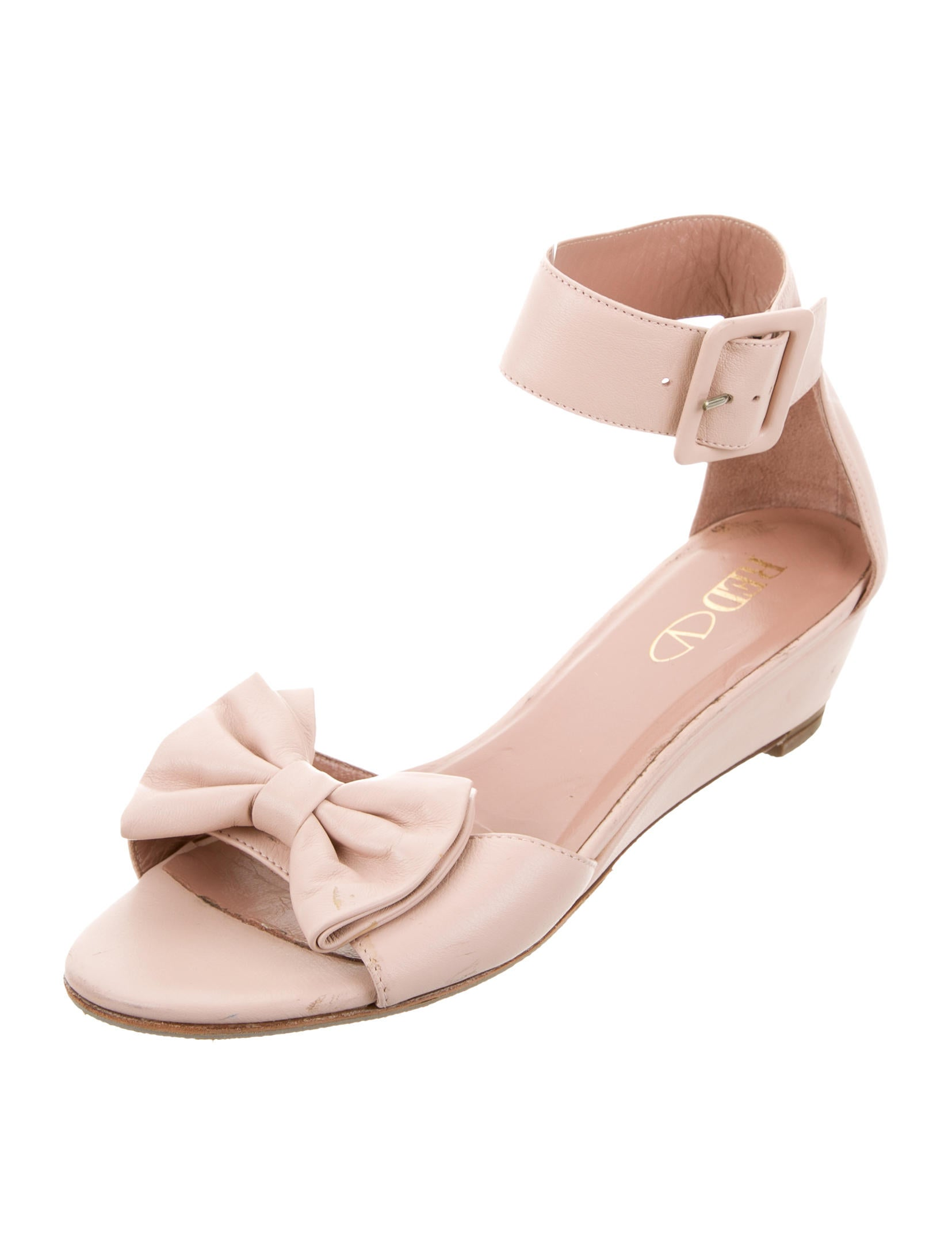 valentino bow wedge sandals shoes wre26271 the