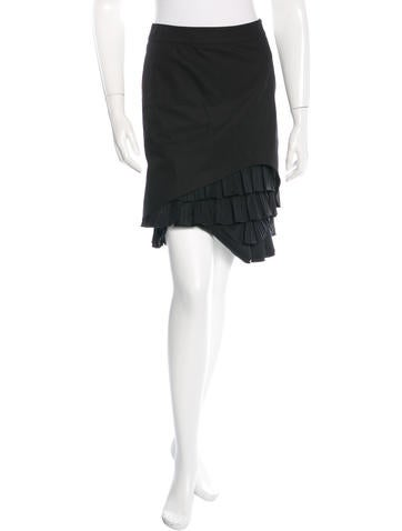 Red Valentino Tiered Knee Length Skirt None