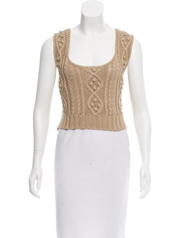 Red Valentino Sleeveless Cable Knit Sweater w/ Tags None