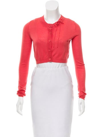 Red Valentino Knit Cropped Cardigan None