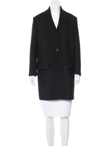 Red Valentino Long Sleeve Knee-Length Coat