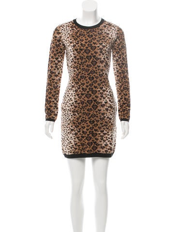 Red Valentino Patterned Sweater Dress w/ Tags None