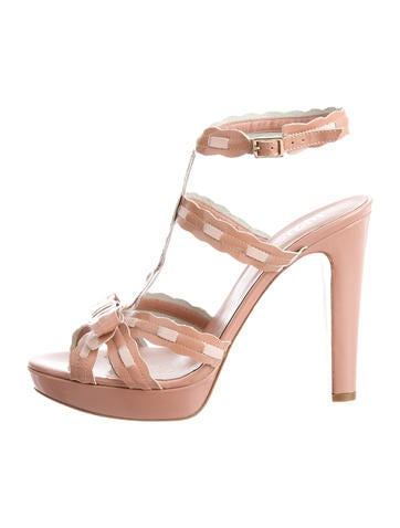Red Valentino Patent Platform Sandals None