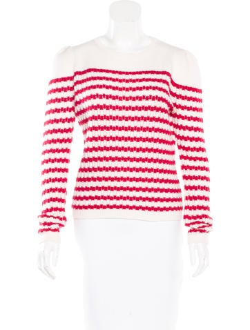 Red Valentino Striped Wool Sweater None