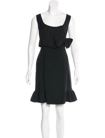 Red Valentino Ruffle-Trimmed Sheath Dress