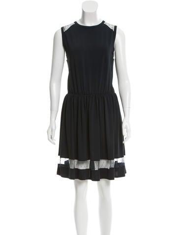 Red Valentino Sleeveless A-Line Mini Dress None